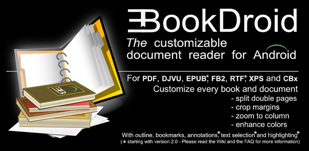 دانلود EBookDroid – PDF & DJVU Reader 2.7.3.1 – کتاب خوان حرفه ای و پر امکانات اندروید!