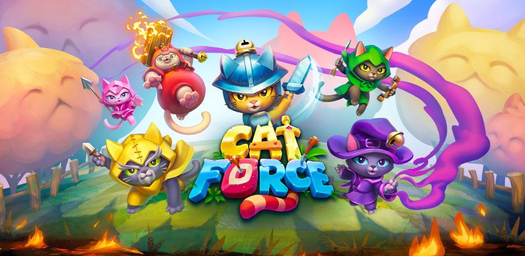 """دانلود Cat Force – Free Puzzle Game 0.27.1 – بازی پازل و فکری """"گربههای جنگجو"""" اندروید!"""