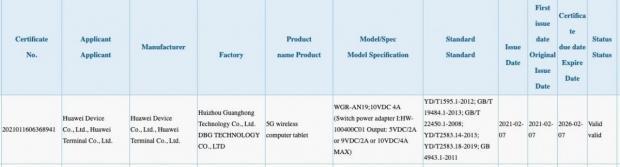 نسخه ۵G هواوی میت پد پرو ۲، گواهینامه ۳C با شارژ ۴۰ واتی را دریافت کرد