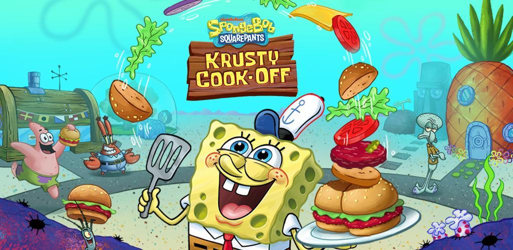 """دانلود SpongeBob: Krusty Cook-Off 1.0.29 – بازی تفننی جالب """"آشپزی با باب اسفنجی"""" اندروید + مود"""