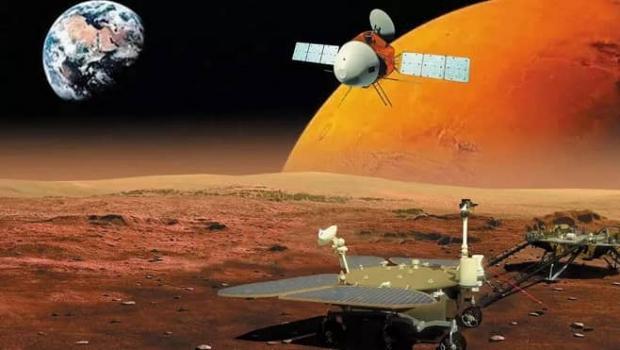 فضاپیمای مریخی تیانون-۱ چین به سیاره سرخ رسید