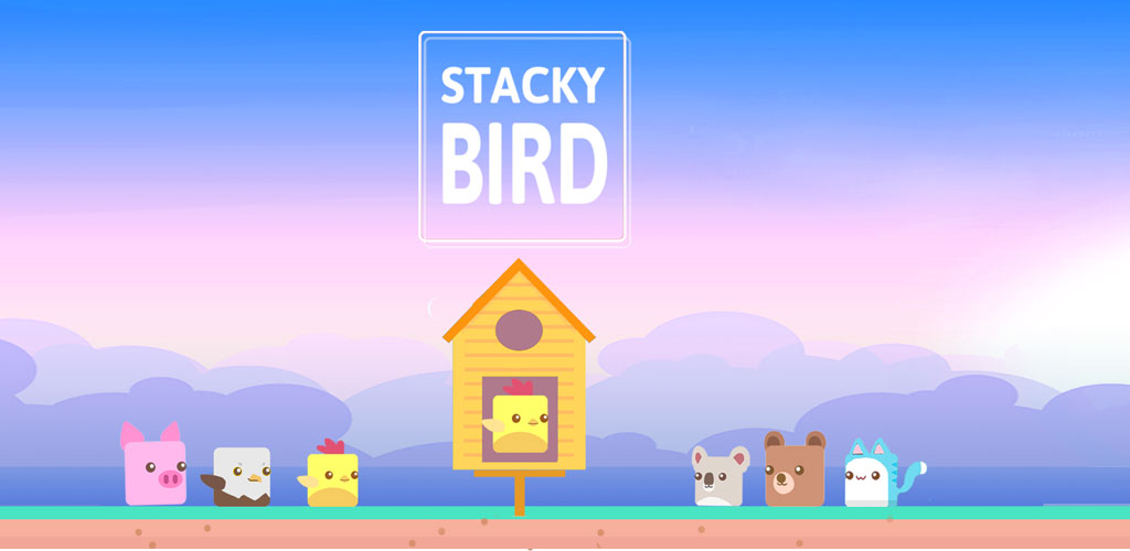 """دانلود Stacky Bird 1.0.1.36 – بازی تفننی کم حجم """"پرنده مربعی"""" اندروید + مود"""