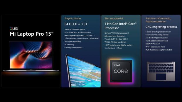 شیائومی می لپ تاپ پرو ۱۵ اینچی با نمایشگر E4 OLED معرفی شد