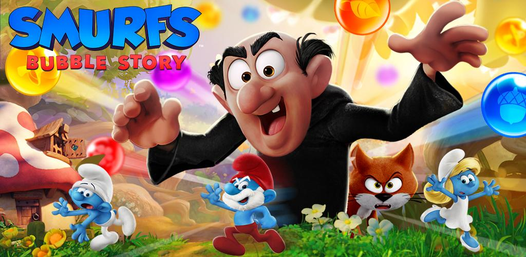 دانلود Smurfs Bubble Story 3.04.010002 – بازی پازل دهکده اسمورف ها اندروید + مود