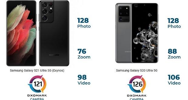 نمره دوربین گلکسی S21 اولترا در DxMark کمتر از S20 اولترا اعلام شد!