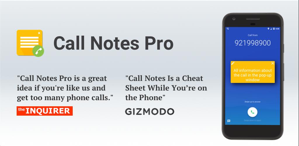 دانلود Call Notes Pro 21.03.1 – اضافه کردن یادداشت به تماس ها اندروید