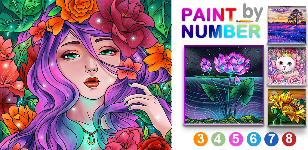 Paint By Number - Free Coloring Book  Puzzle Game