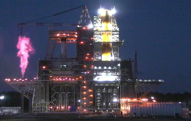 آزمایش قوی ترین موشک جهان توسط ناسا شکست خورد+ویدیو