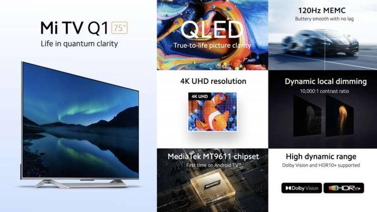 تلویزیون شیائومی Mi TV Q1 75 با قیمت رقابتی معرفی شد