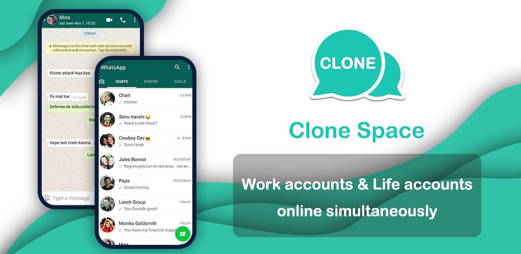 دانلود Clone Space – Multiple accounts & App parallel Premium 1.4.6 – اپلیکیشن نصب نسخه های یکسان از برنامه ها مخصوص اندروید