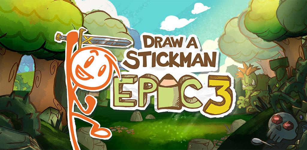 """دانلود Draw a Stickman: EPIC 3 1.8.19469 – بازی ماجرایی جالب """"نقاشی استیکمن: حماسه ۳"""" اندروید + مود + دیتا"""