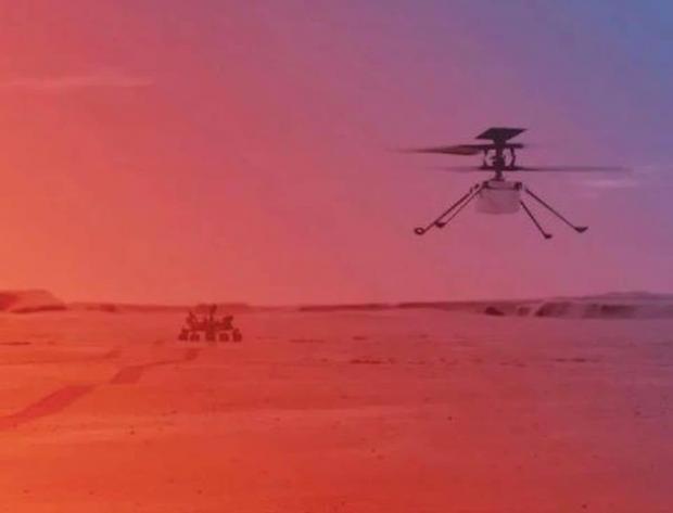 سومین پرواز پهپاد مریخی نبوغ با سرعت و ارتفاع بیشتر انجام شد