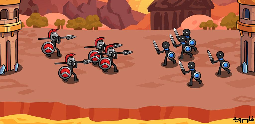 """دانلود Stick Wars 2: Battle of Legions 2.0.2 – بازی استراتژیک """"جنگ آدمک ها ۲: نبرد لژیونر ها"""" اندروید + مود"""