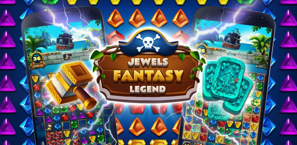 """دانلود Jewels Fantasy Legend 1.2.1 – بازی پازل و فکری """"افسانه جواهرات شگفت انگیز"""" اندروید + مود"""