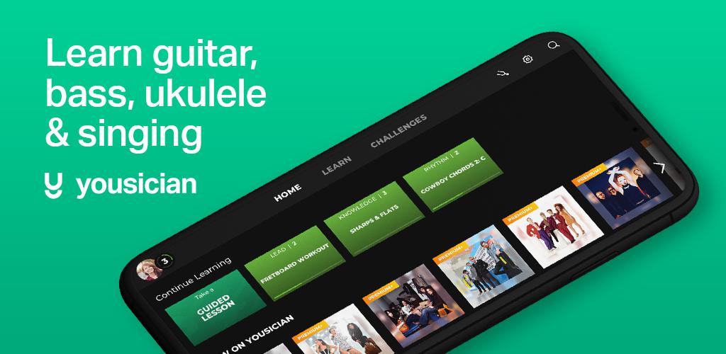 دانلود Yousician Guitar, Piano & Bass 4.24.0 – برنامه نوآورانه آموزش موسیقی اندروید!