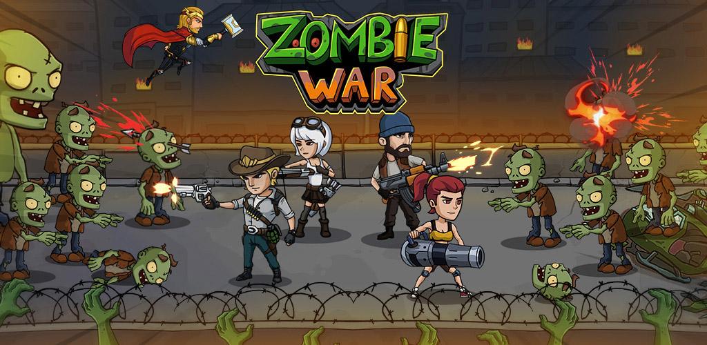 """دانلود Zombie War: Idle Defense Game 43 – بازی آرکید – کلیکر """"جنگ زامبی"""" اندروید + مود"""
