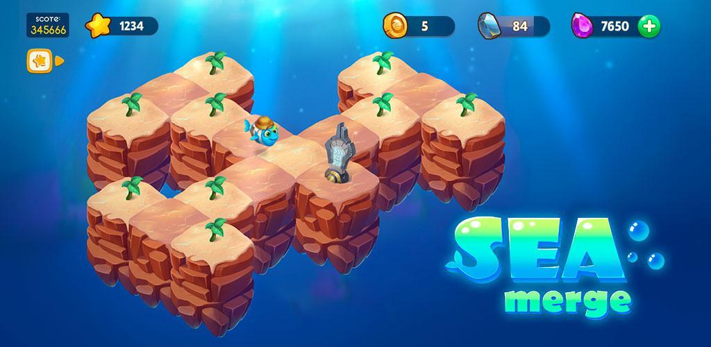 """دانلود Sea Merge 1.9.0 – بازی تفننی """"ماهی های اقیانوس"""" اندروید + مود"""