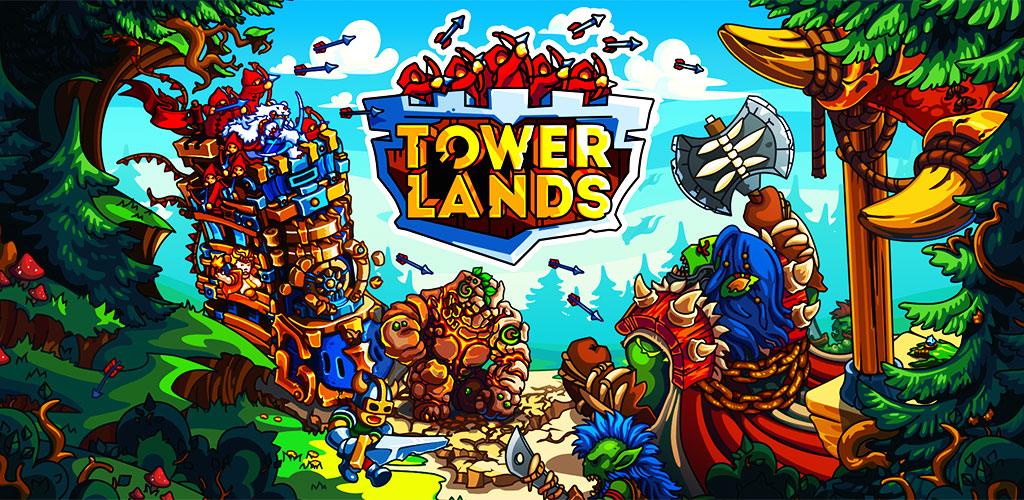 """دانلود Towerlands – strategy of tower defense 1.13 – بازی استراتژیکی """"سرزمین برج ها"""" اندروید + مود"""