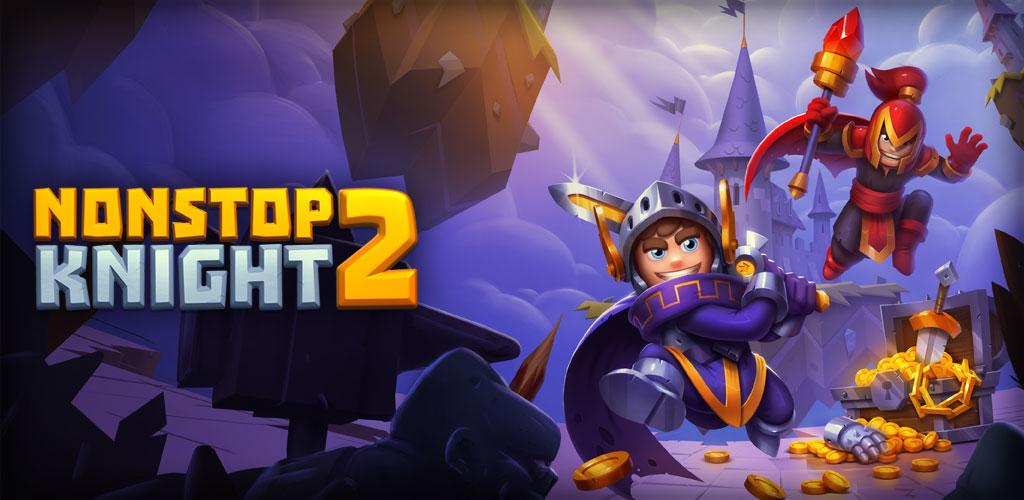 """دانلود Nonstop Knight 2 2.4.0 – بازی نقش آفرینی """"شوالیه توقف ناپذیر ۲"""" اندروید + مود"""