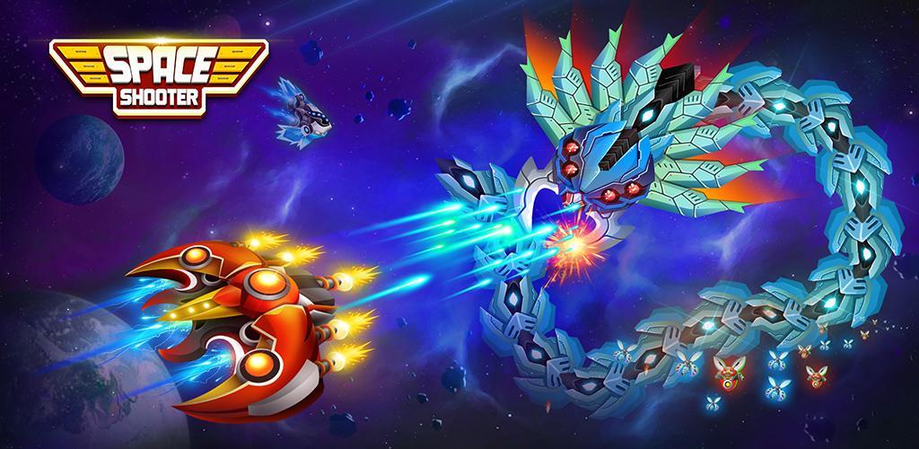 دانلود Space Shooter : Galaxy Shooting 1.506 – بازی اکشن تیرانداز فضایی اندروید + مود