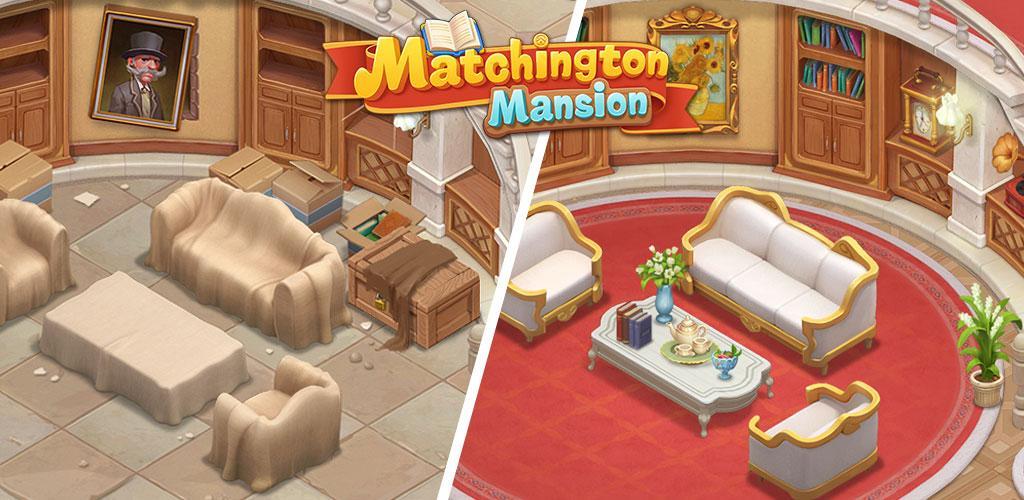 """دانلود Matchington Mansion 1.85.0 – بازی پازل """"خانه مجلل مچینگتون ها"""" اندروید + مود"""