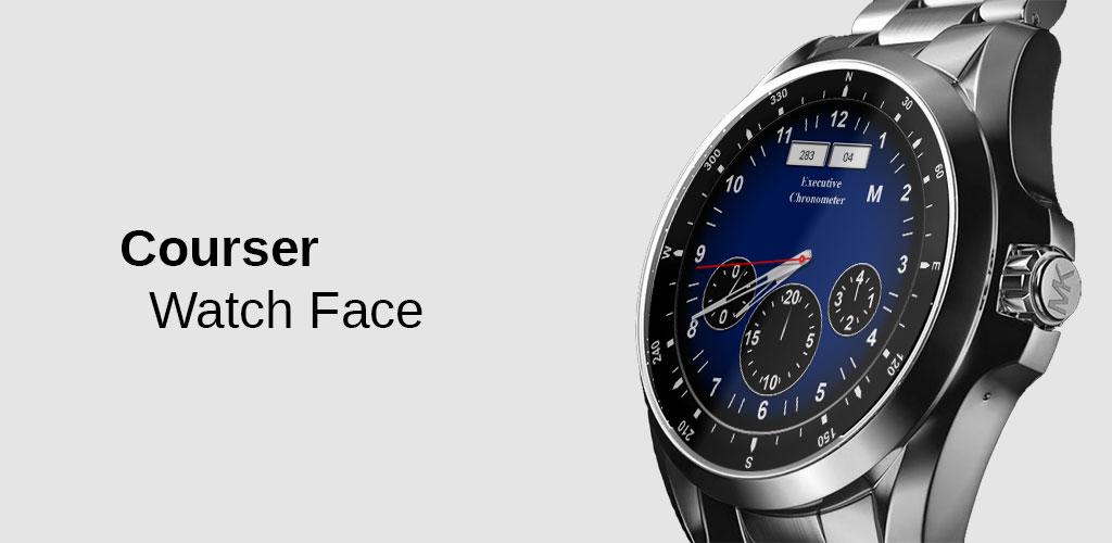 دانلود Watch Face: Courser Classic – Wear OS Smartwatch 1.7.39 – برنامه تغییر تم و اینترفیس ساعت ها هوشمند اندروید