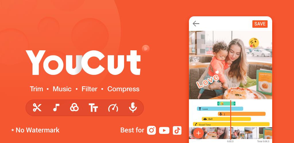 دانلود YouCut-Video Editor & Video Maker,No Watermark PRO 1.451.1118 – ویرایشگر ویدئو قدرتمند و پر امکانات اندروید !