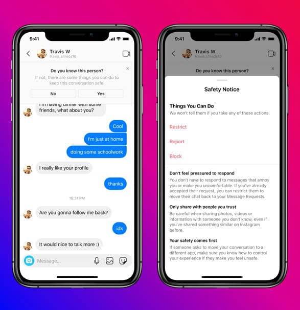 اینستاگرام مانع ارسال پیام دایرکت توسط بزرگسالان به نوجوانان میشود